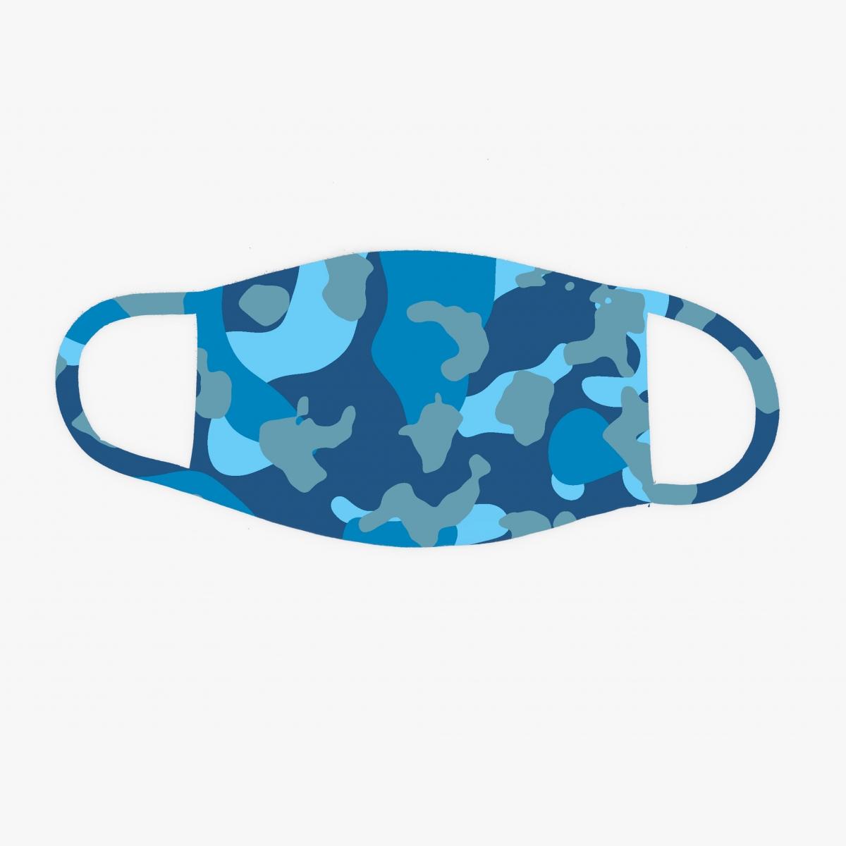 Camouflage Blauer Mund-Nasenschutz Gesichtsmaske