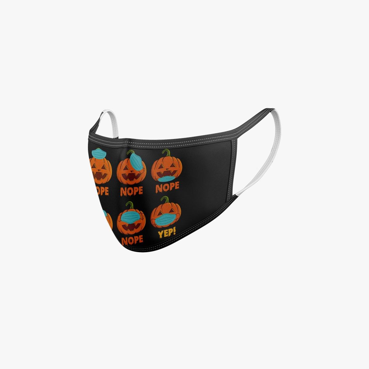 Halloween Maske Mundschutz mit Kürbis für Kinder und Erwachsene