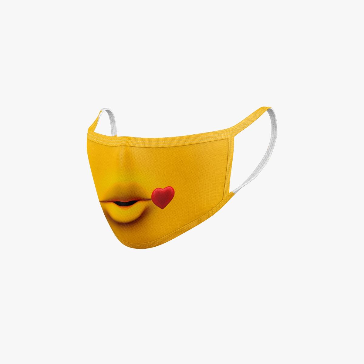 Mimirkrischer Mundschutz Minion Kiss für Kinder und Erwachsene